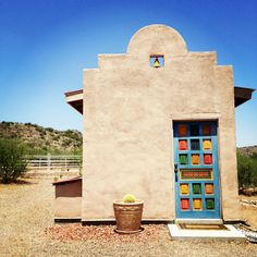 Southwestern painted door