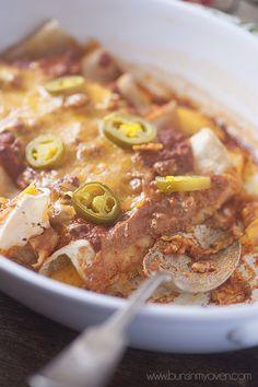 easy weeknight dinner! chili cheese enchiladas recipe