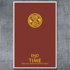Doctor Who Poster End of Time  11x17 Science by ModernStylographer, $17.00
