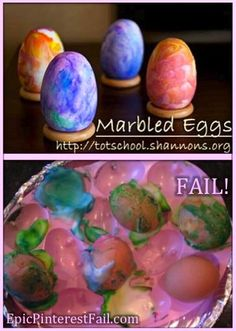 Marbled Easter eggs - Epic Pinterest Fail!