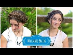 Milkmaid Braids...so summery and so easy.   #DIY #hairstyles #hairstyle #milkmaidbraid #cutegirlshairstyles #braid #updo