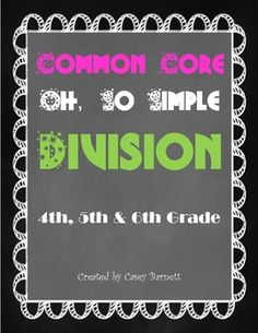 This Oh, So Simple Division Packet is a great way to teach your students long division.