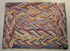 hooked braided rug