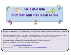 These flash cards can be used in your math center or perhaps as a