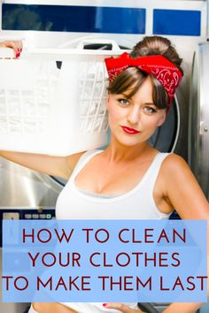 How to tell whether or not you're washing your clothes enough via @Erin Taylor.com