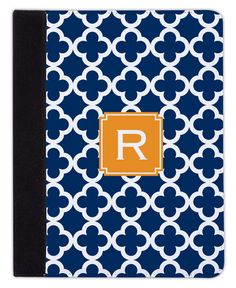 Navy Bristol Tile iPad Cover