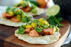 Salmon Tacos with Grilled Peach Guacamole in 30 minutes...or less