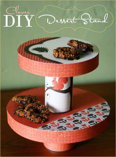 DIY dessert stand tutorial #budgetfriendly #scrapbooking