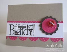 Different colors would be better, but I love the design! ~ Stampin Up