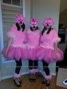 Flock of Flamingos Girl Group Costume… Coolest Halloween Costume Contest