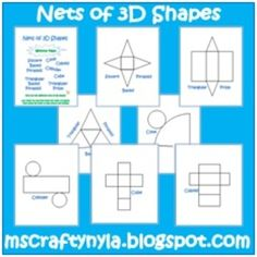 FREE! Get your students into the fun side of learning. They will love the cutting and folding of these 3D shapes - cube, cuboid, cone, cylinder, square b...