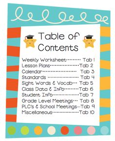T is for Teaching: The Ultimate Teacher Binder