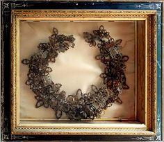 mourn hair, hair wreath, family trees, victorian hair, hair art, victorian mourn, mourn art, floral wreaths, mourn jewelri