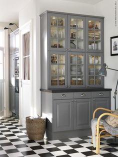 built-in shelves for kitchen