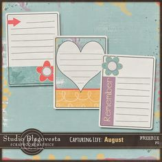 Free Capturing Life: August Journal Cards from Studio Blagovesta