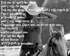 Cowgirl's creed.