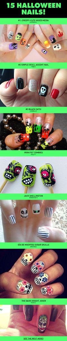 15 halloween, nail arts, brushes, beauti, artist, nail idea, halloween nail art, halloween parti, halloween nails