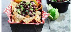 food recipes, chip, tortilla, black beans, avocado salsa, weight loss, fat burning foods, bean avocado, salsa recip