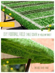 DIY: Football Field TableCover