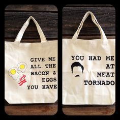 Ron Swanson Double-Sided Tote. $18.00, via Etsy.