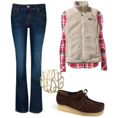 """""""Winter"""" featuring Clarks wallabees by rachelc1013 on Polyvore   #WorkItWednesday #Clarks #Wallabees Available on www.TheShoeMart.com"""