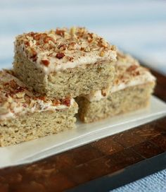Banana Bars w/ Cinnamon Cream Cheese Frosting