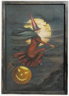 vintage witch card