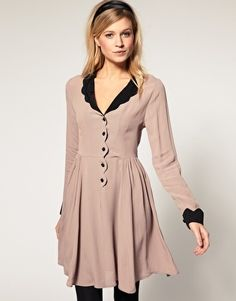 ASOS Collar Dress with Scallop Detail - StyleSays