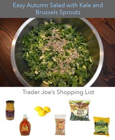 Mommy Sanest | Easy Autumn Salad with Kale and Brussels Sprouts | http://www.mommysanest.com