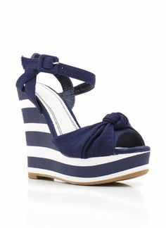 Nautical wedges perfect for summer <3