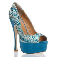 cute blue shoes