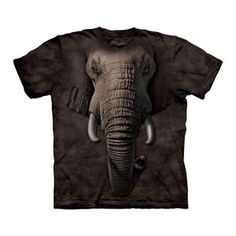 Elephant Face T-Shirt Adult now featured on Fab.