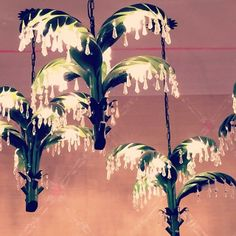 Palm Leaf Chandeliers at Lilly Pulitzer Palm Beach Gardens Store via @Brandie W Instagram