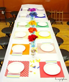 Hi Sugarplum   Rainbow Art Party