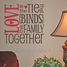 LOVE Subway Art, Family Wall Decal