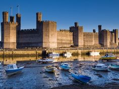 "According to UNESCO ""the castles and fortified towns of Gwynedd are the finest examples of late 13th century and early 14th century military architecture in Europe"". This is one of the four castles - Caernarfon Castle"