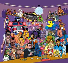 80′s Party with Transformers, Ninja Turtles, Indiana Jones, E.T., Goonies, Mario, Ghostbusters and more...