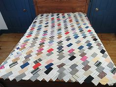 Vtg Hand Pieced Sewn Calico Cotton Fabric Quilt Top Unfinished 90x90 | eBay