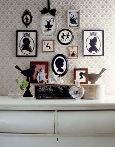 whimsical display of silhouettes