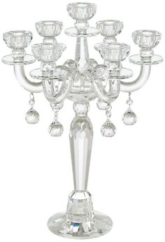 Clear Crystal Taper 19-Inch-H Candle Holder See more products... http://www.eurostylelighting.com/ #interior_design #home_decor #modern_lighting #lighting