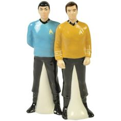 Westland Giftware Star Trek Magnetic Spock and Captain Kirk Salt and Pepper Shaker Set, 4-1/2-Inch by tabletopi