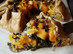 Butternut Squash Galette with Kale and Gruyère