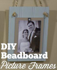 DIY Beadboard Picture Frames