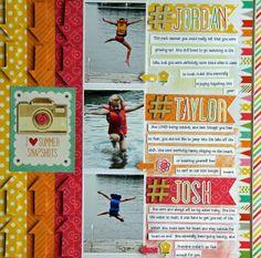 June 214 Main Kit for #MyCreativeScrapbookKits by Jodi Wilton #EchoPark