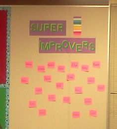 Whole Brain Teaching Super Improvers Wall