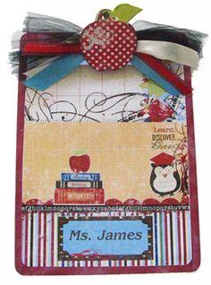 Owl clipboard Teacher Gift