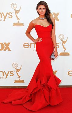 Her figure is PERFECT!!! so is the dress shape, style...Nina Dobrev at the 2011 Emmys! Gorgeous!