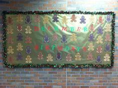 December Bulletin Board -Gingerbread Boys & Girls