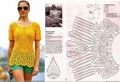 blusa crochet. pattern crochet