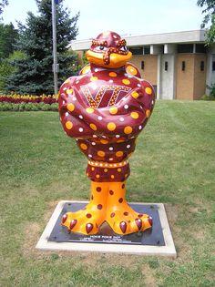 Blacksburg, Virginia - Gobble de Art 2006 - Hokie Pokie Dot - 70 fiberglass statues, 5 foot high
